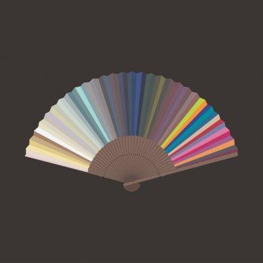 Color sampler, vector art illustration