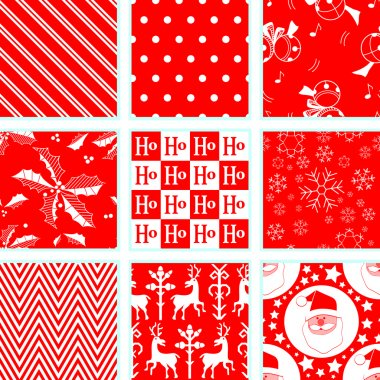 9 Christmas Repeating Patterns