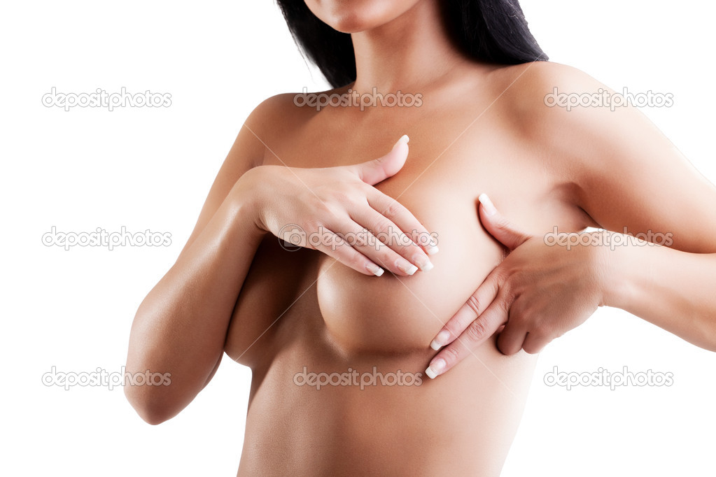 Female controlling breast for cancer