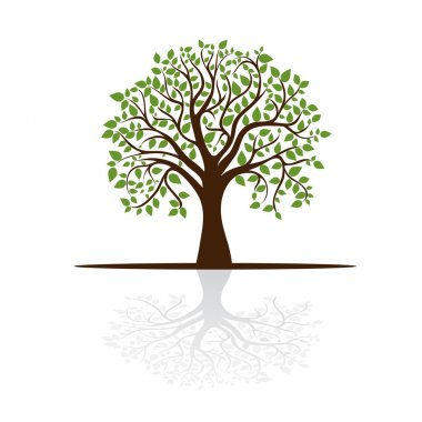 Tree casts a shadow, a place for text, vector stock vector