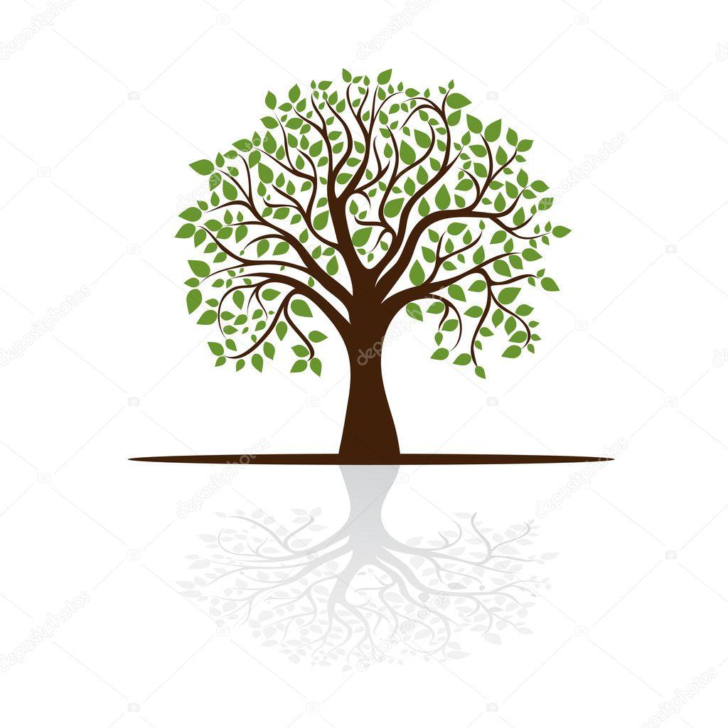arbre projette une ombre une place pour le texte image vectorielle nikitinaolga 11352703. Black Bedroom Furniture Sets. Home Design Ideas