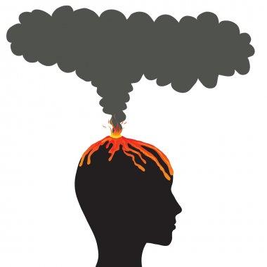 Explosion brain, vector concept
