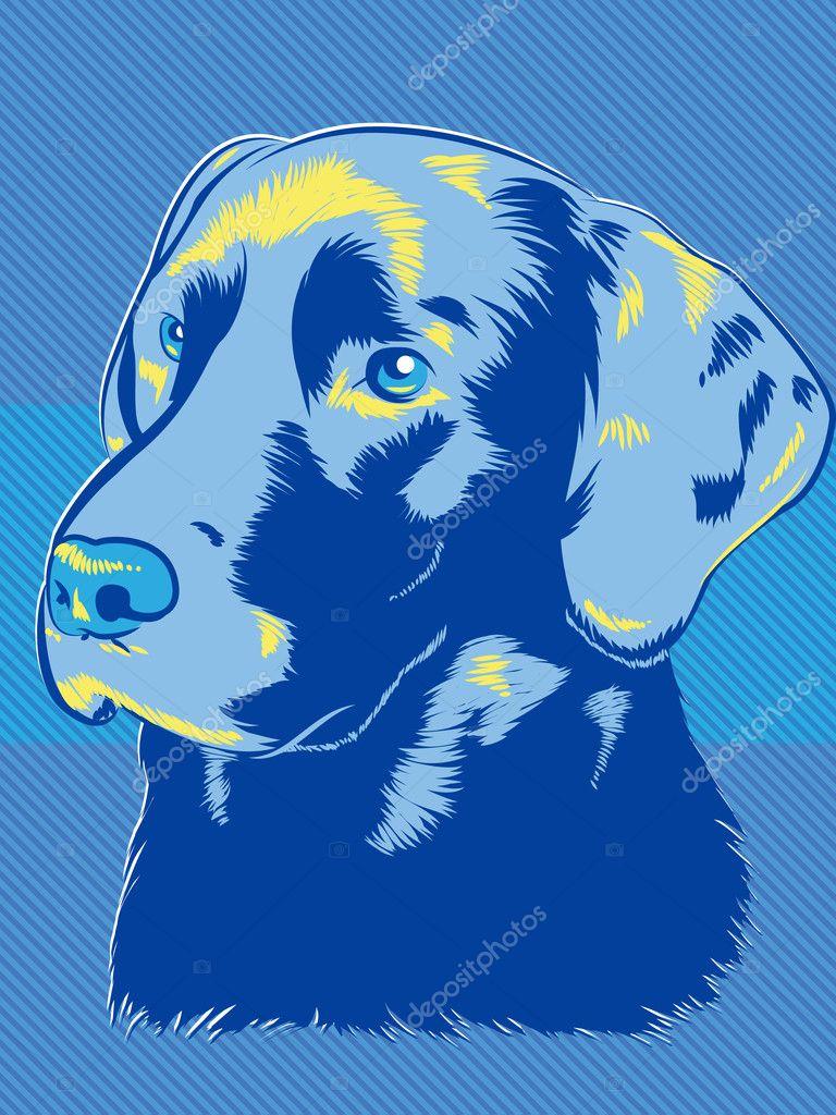 Labrador Dog Pop Art Style