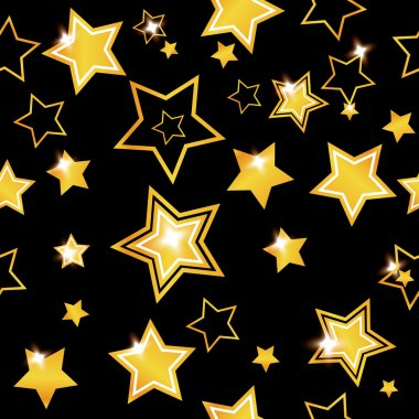 Abstract seamless background with stars