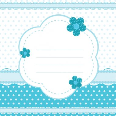 Vector background for a baby boy stock vector