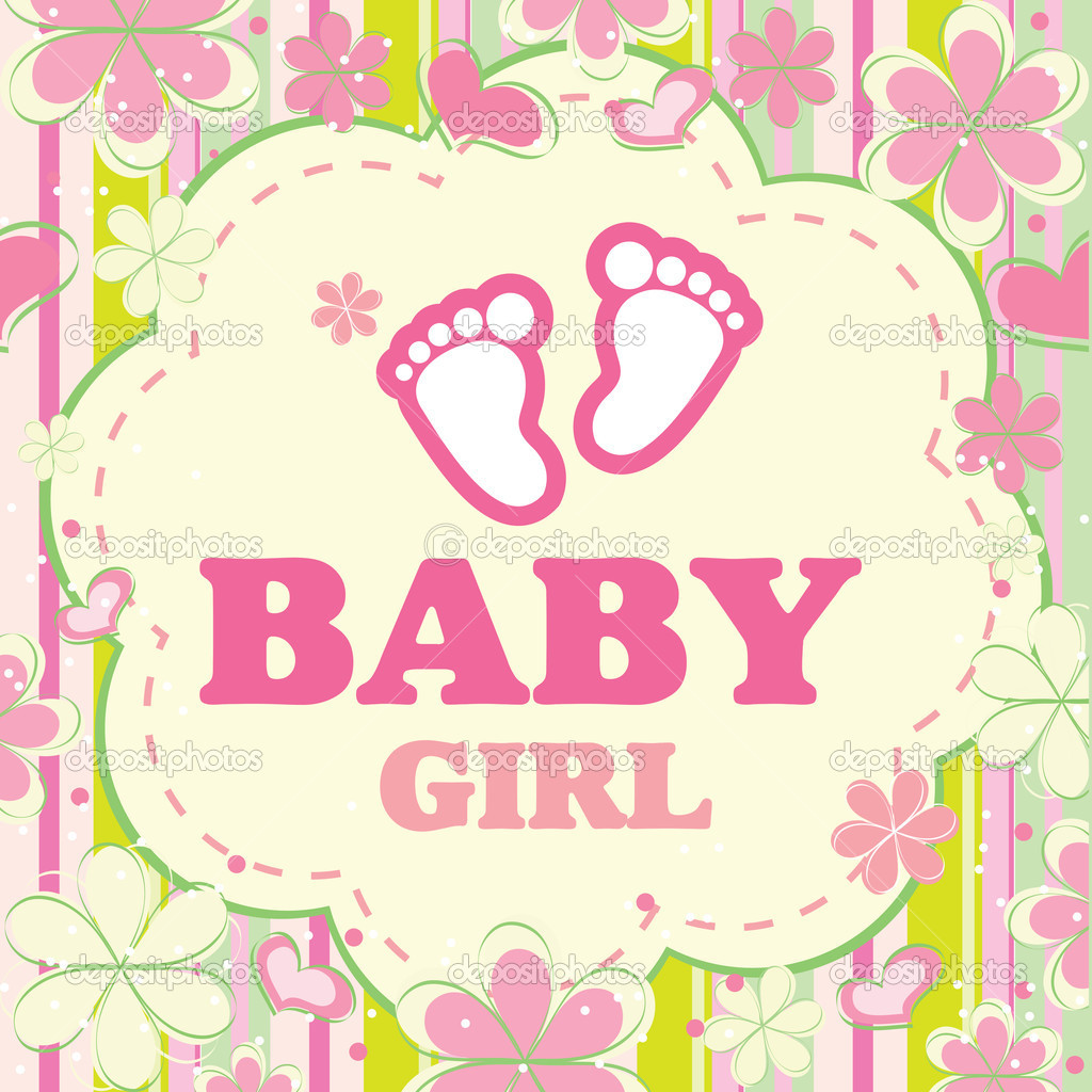 Baby Girl Wallpaper: Vector Background For A Baby Girl