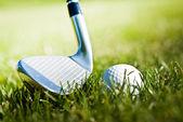 Golf.Preparing to shot