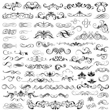 Set of vector graphic elements for design stock vector