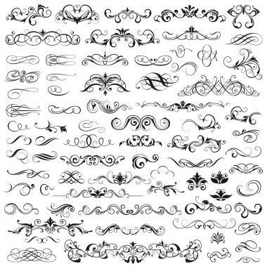 Set of vector graphic elements for design clip art vector