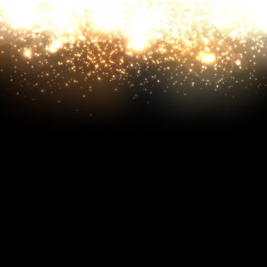 Gold Abstract Dark Background