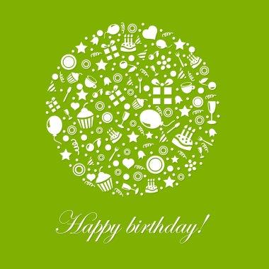 Green Happy Birthday Card