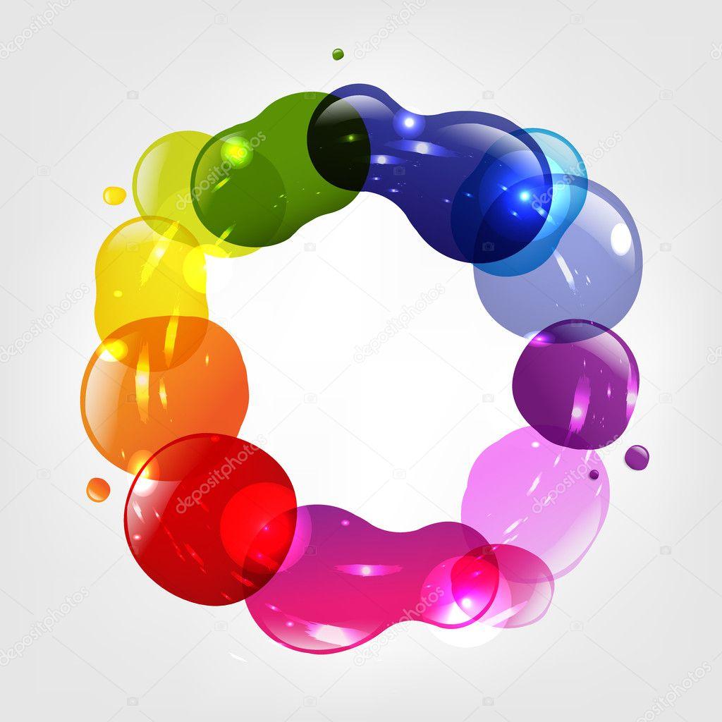 manchas de color y globo de diálogo — Archivo Imágenes Vectoriales ...