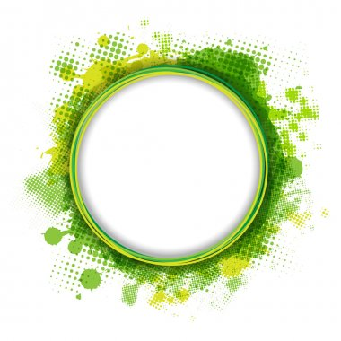 Speech Bubble With Green Blob