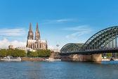 Fotografie Ansicht von Köln über den rhein