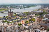Blick auf den Rhein und Köln