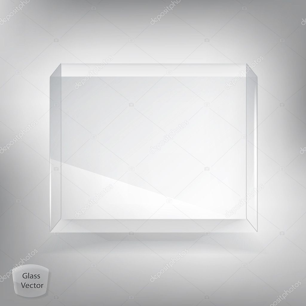 White glass transparent box