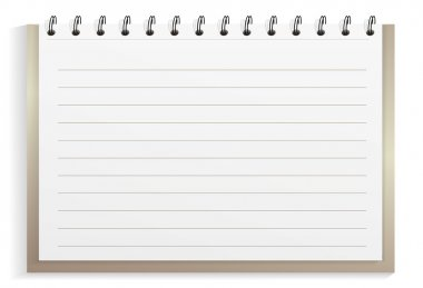 Notebook from the metal surface stock vector