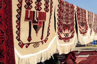 Handmade carpets for muslim prayer