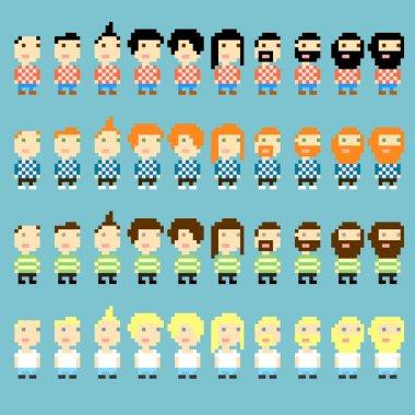 Pixel haircuts