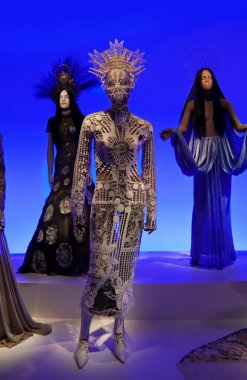 Female mannequins at Jean Paul Gaultier exhibition
