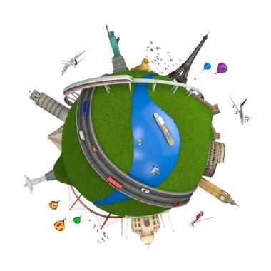World travel globe concept