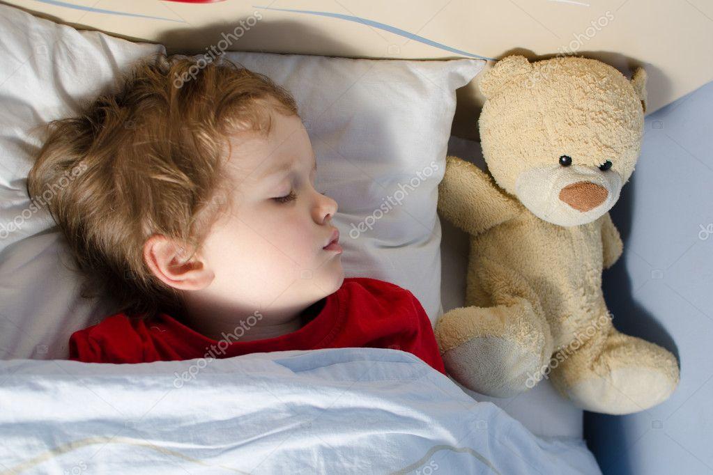 Close-up of sleeping child
