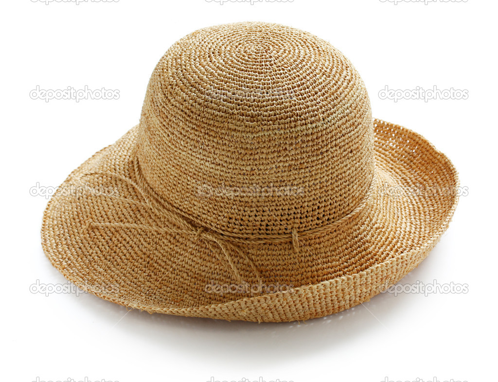 Široký okraj Dámy pletený letní slaměný klobouk — Fotografie od ... 38a4d9893a
