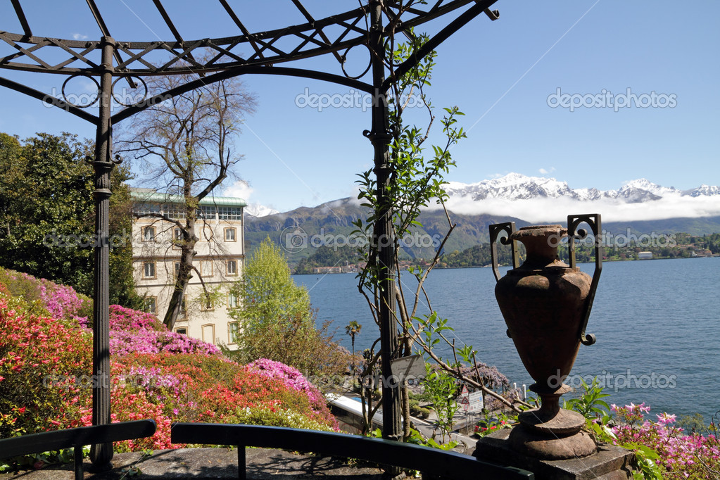 Spectacular view from historic Garden of Villa Carlotta
