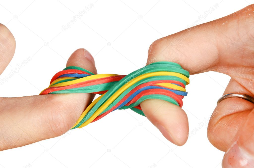 rubber band stretch Rubber elasticity is an entropic phenomenon when you stretch the elastic you force the constituent chains into a more ordered state, but you haven't stretched the chains themselves.