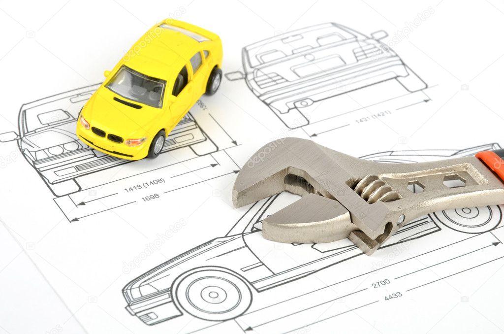 Car blueprint — Stock Photo © anaken2012 #12054434
