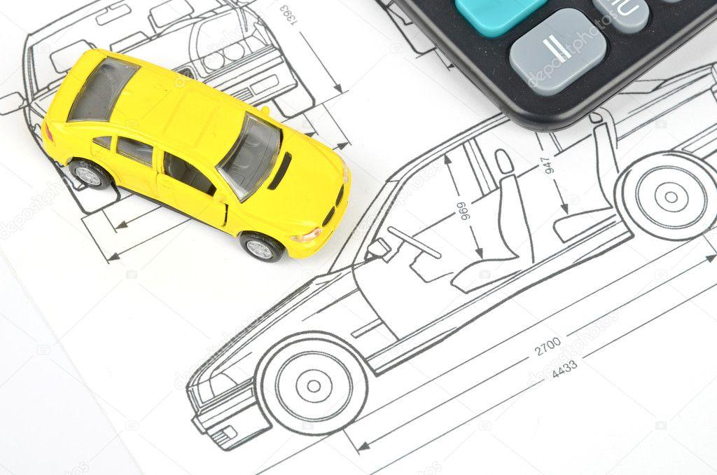 Car blueprint — Stock Photo © anaken2012 #12054656