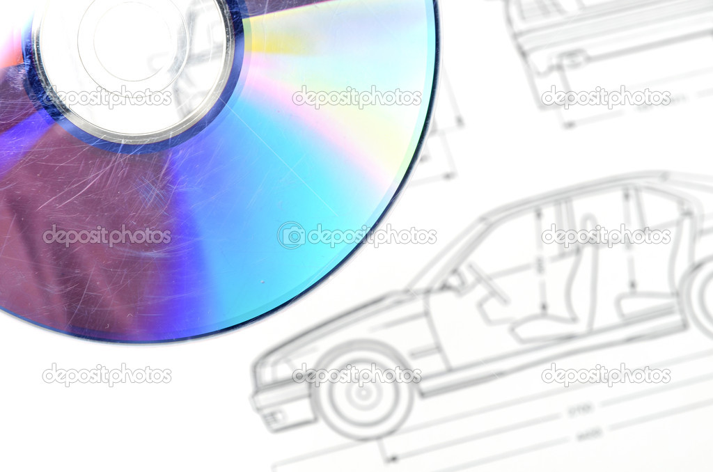 Car blueprint and dvd stock photo anaken2012 12055328 car blueprint and dvd photo by anaken2012 malvernweather Images