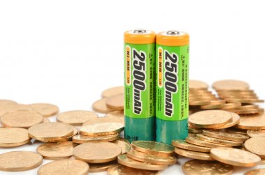 Batteries and coins