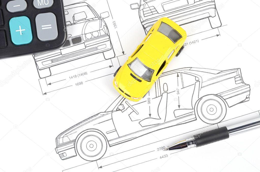 Car blueprint — Stock Photo © anaken2012 #12103028