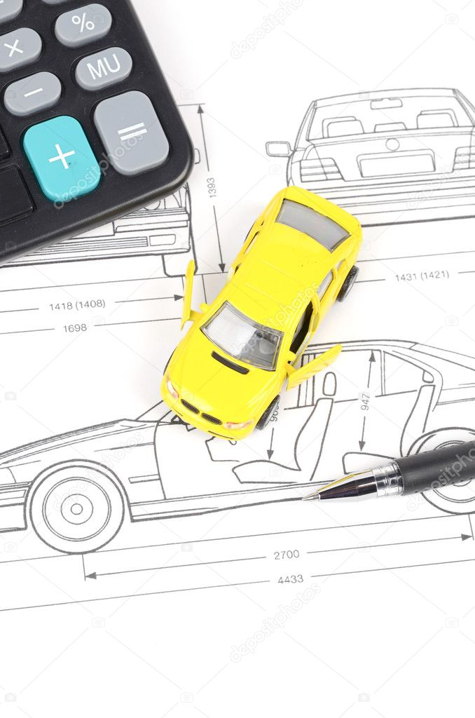 Car blueprint — Stock Photo © anaken2012 #12103044