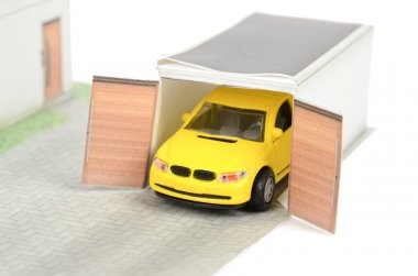 Model house and car