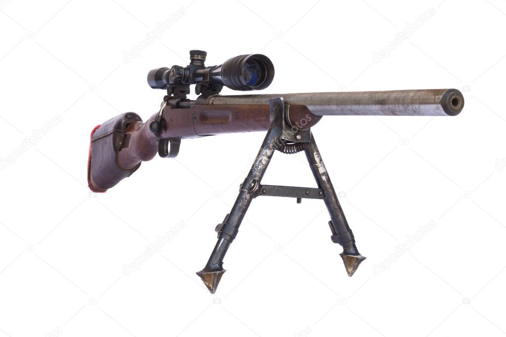 古い狙撃兵のライフルのバレル — ストック写真 © orcearo #11320907