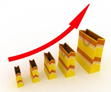 Sales growth chart.