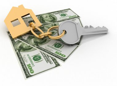 House key and dollars