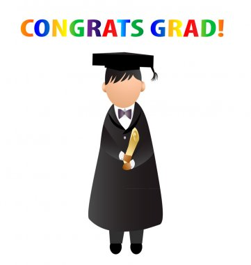 Graduation congrats grad! vector