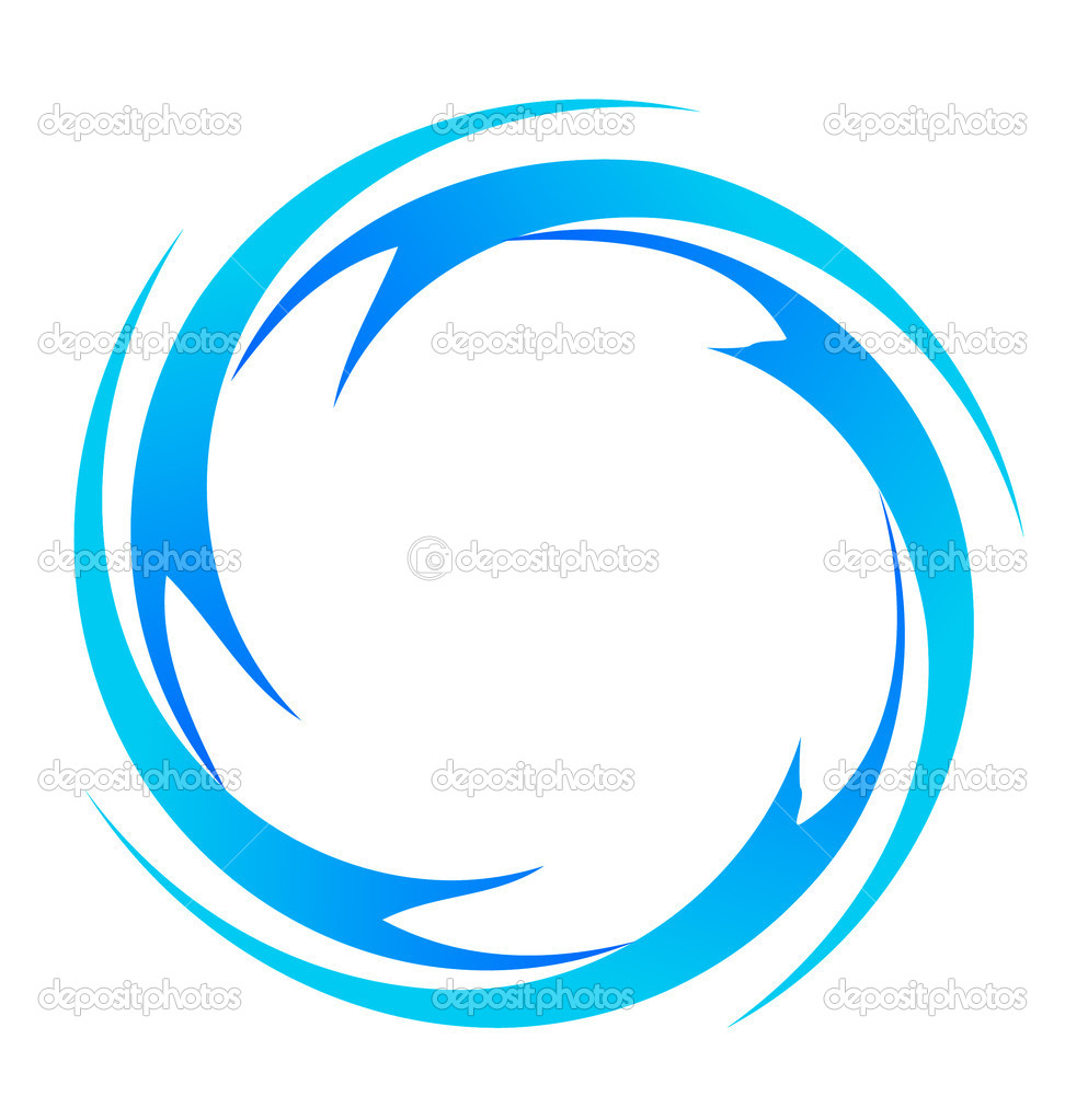 Water waves logo vector