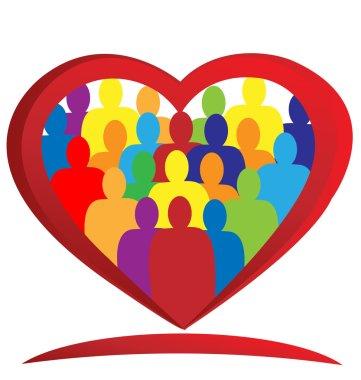Teamwork heart logo