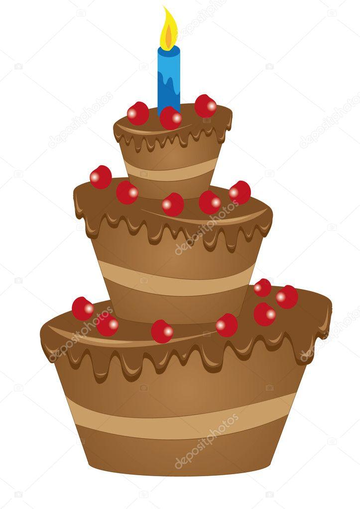 Chocolate Birthday Cake Drawing