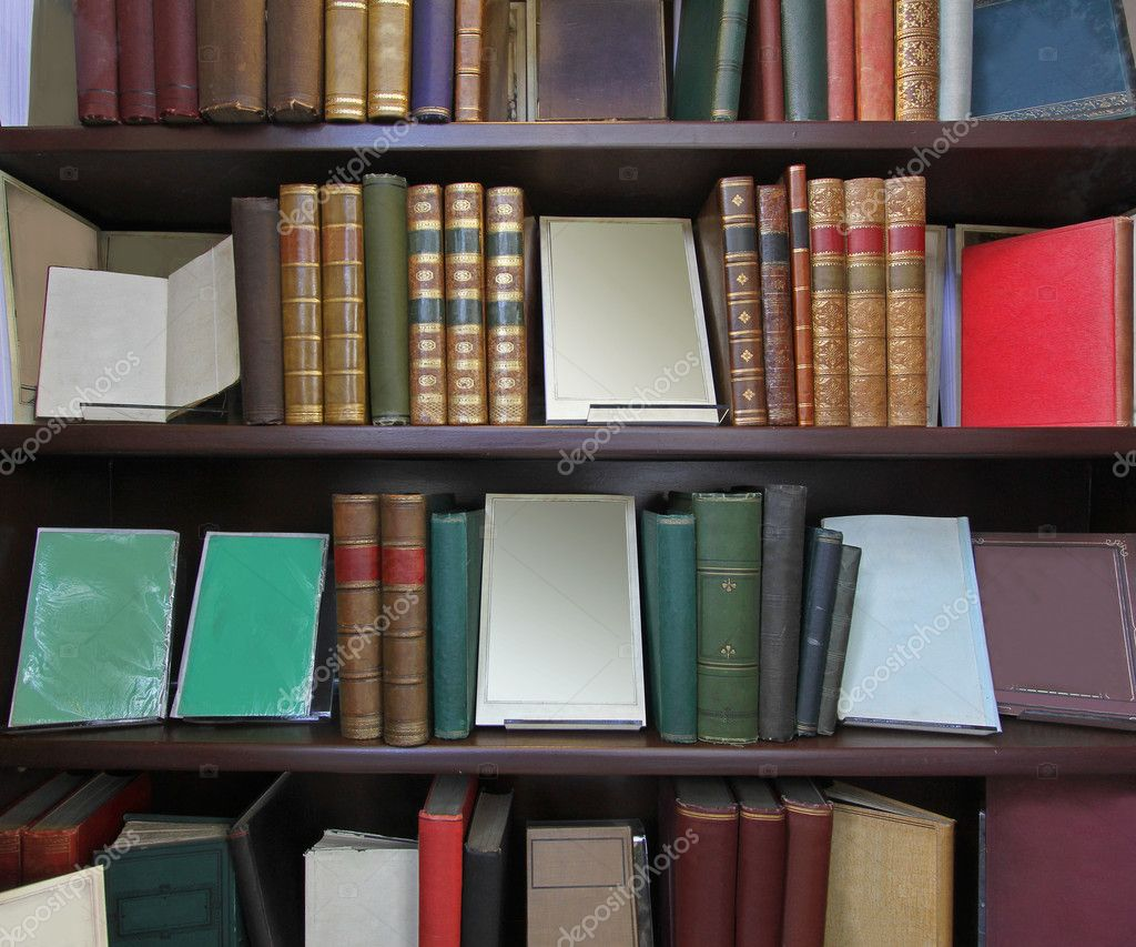 Big Bookshelf Stock Photo