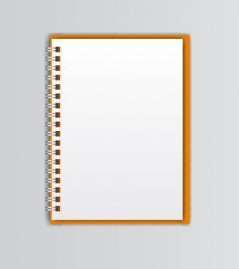 Open white notebook