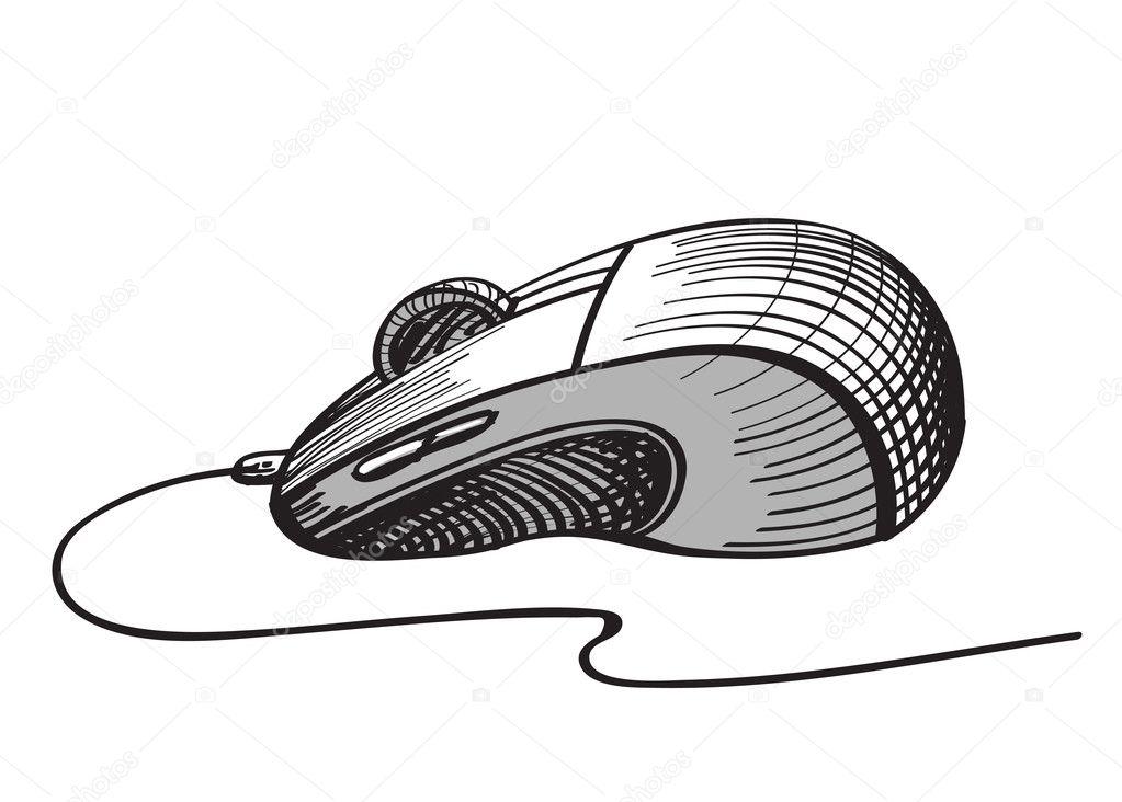 Line Drawing Mouse : Sketch computer mouse u2014 stock vector © henadiy27 #11620487