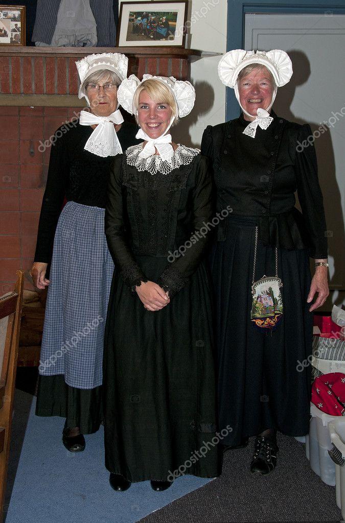 Original Costumes.Original Dutch Costumes From Barneveld Stock Editorial