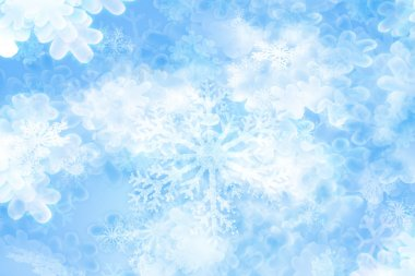 Snowflakes background in soft shining