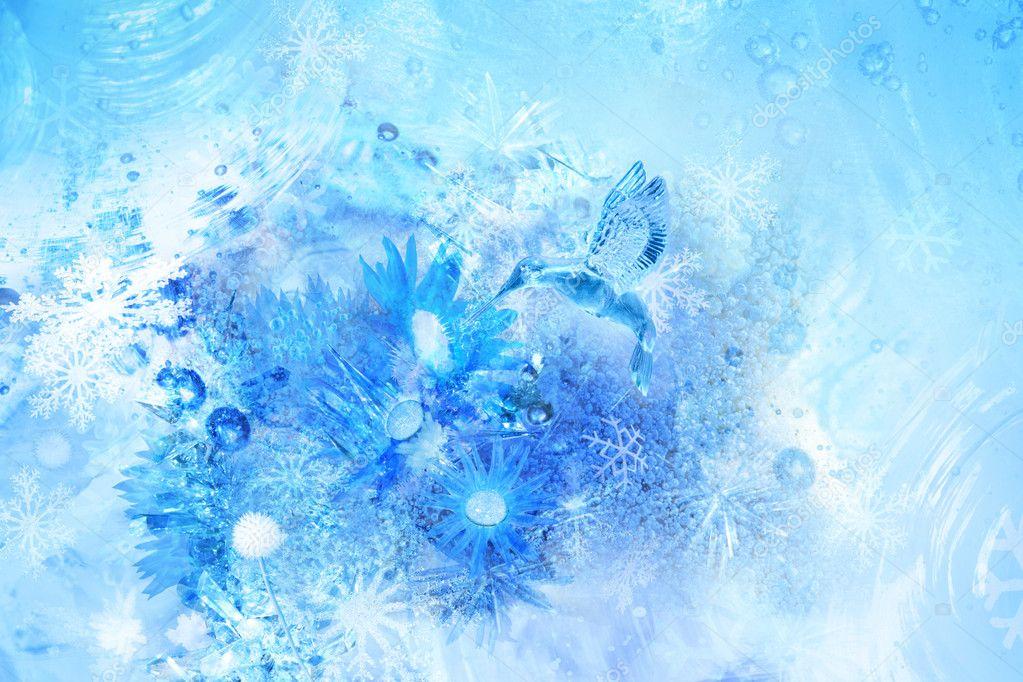 Ice bird scene