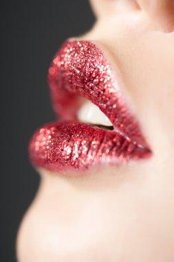Red Shiny Lips